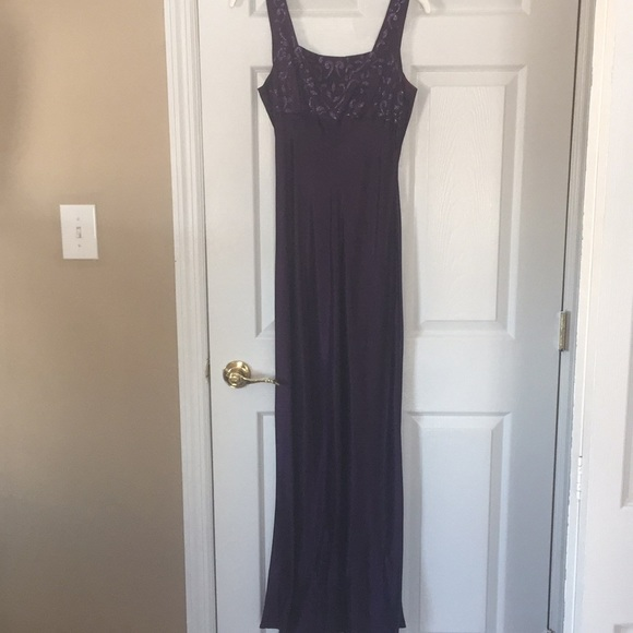 Plum Evening Gown Only Worn Once   Poshmark